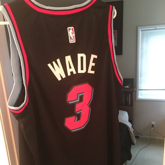 "sports shoes 791d0 6b7bc Dwayne Wade Miami Heat ""Vice City"" edition jersey NWT"